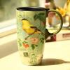 Люби меня, люби зеленый (Evergreen) печать творческого кружка с крышкой керамическая чашка с крышкой чашки офиса чашки чашки кофе Starbucks стиле чашки