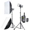 Godox (Godox) DP600W двухламповый фотографический комплект света студия студия фотосессии портрет костюм