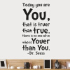MyMei New Design 30*57cm Today you are you home decor creative wall decals decorative removable wall sticker цена и фото