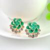 MyMei Elegant Women Lady Crystal Rhinestone Rose Flower Ear Studs Earrings Jewelry dragon shaped metal ear clip ear studs coppery 2 pcs