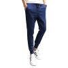 (MSEK) XK3203 мужские спортивные случайные брюки свободные брюки корейской моды брюки рубашка брюки синий XXXL