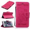 Роза Медведь Рельефный PU кожаный бумажник чехол Классический откидная крышка с подставкой Функция и слот кредитной карты для IPho