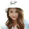 [Супермаркет] Jingdong ожесточенная Гданьск (шведских крон) WMZ160500 Г-жа Harajuku стиль вышивка шляпа горшков шляпа белая улыбка английский свадебное платье 2015 wmz