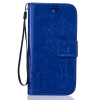 Blue Lovers and Dandelion Style Embossing Classic Flip Cover with Stand Function and Credit Card Slot for LG K10 pink lovers and dandelion style embossing classic flip cover with stand function and credit card slot for lg k10