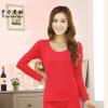 Блузы дна рубашки вокруг шеи сплошной цвет футболки женщины диких Тонкий простой U-образным вырезом рубашки воротник пижамы четыр