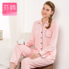 Fen Teng FENTENG Женская женская одежда Осень Sweet Sleeve Классическая простая мужская одежда J9713777 Pink L