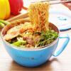Супермаркет] [Jingdong Snoopy (SNOOPY) двойная изоляция чаша из нержавеющей стали лапши многофункциональных коробок обеда крышки массы шар синие 1200 мл сушилка для лапши pasta di casa gmj 1