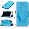 Светло-голубой Перья и птицы Стиль Тиснение Классический откидная крышка с функцией подставки и слот для кредитных карт для IPHONE 7 Plus подставки и кронштейны