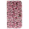 цена на Цветочный дизайн искусственная кожа флип кошелек карты держатель чехол для Nokia Lumia N640