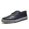 Обувь из натуральной кожи OKKO Bullock резные ботинок для ботинок Британские галстуки ретро мужские туфли для обуви 8767 синий 40 ярдов