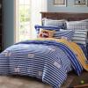 Meng Jie домашний текстиль производства MINI MEE наборы постельного белья хлопка печати трех частей детские постельные принадлежности стеганые одеяла высокий замок синий 1,2 м кровать 150 * 200 см