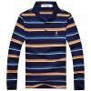 Playboy PLAYBOY Футболка Мужская отворотом с длинными рукавами полосатой футболки синие джинсы XL 16001PL1907