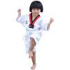 Binge ребенок taekwondo одежда хлопок с короткими рукавами taekwondo одежда хлопок тренировочная одежда мужчины и женщины одежда таэквондо chernika одежда