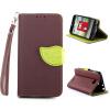 Коричневый Дизайн Кожа PU откидная крышка бумажника карты держатель чехол для LG L90 коричневый дизайн кожа pu откидная крышка бумажника карты держатель чехол для lg l90