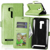 Зеленая классическая флип-обложка с функцией подставки и слотом для кредитных карт для Asus Zenfone Go ZB551KL черная классическая флип обложка с функцией подставки и слотом для кредитных карт для asus zenfone max zc550kl