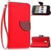 Красный Дизайн Кожа PU откидная крышка бумажника карты держатель чехол для Alcatel OneTouch Pixi3 5.0 мобильный телефон alcatel onetouch 2008g black white