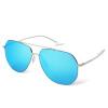 Синий их (Bluekiki) нейлон солнцезащитные линзы цвет пленки солнцезащитные очки мужчины солнцезащитные очки вождение Зеркало 5101 белый серебряный рама ртуть очки солнцезащитные alpina fenno цвет белый голубой 8529310