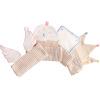 WELLBER (WELLBER) детское цветное хлопковое марлевое полотно для пота 4 загружено 40 * 18 см wellber пеленка для новорождённых 80 80 см