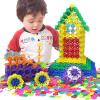 (MING TA) 800 кусков Большие хлопья снега толстые 12-цветные детские развивающие игрушки пластиковые строительные блоки, собранные детские пособия бочки bmw серии детские игрушки автомобиля детские игрушки