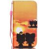 Али Дизайн Кожа PU откидная крышка бумажника карты держатель чехол для IPHONE 5C черный цветочный дизайн кожа pu откидная крышка бумажника карты держатель чехол для iphone 5c