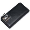 Sammons (Sammons) длинный отрезок мужской бумажник коровьей бумажник бумажник бумажник свободное печатание темперамент черная сумка 350252-01