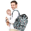 flavorgirl большой многоцелевой рюкзак для мамы F5024 темно-синий