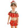 6610-5 комфорт девочек купальники детей купальник раскол купальники корейский шаблон моды рыбы Млечный (Qihai) красный L код раздельные купальники jolidon купальник