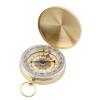 Латунь карманные часы Стиль Открытый Отдых Туризм Компас навигации брелок