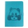 Sky Blue Panda Стиль Тиснение Классический откидная крышка с подставкой Функция и слот кредитной карты для iPad 2/3/4 панель для планшета ipad 3 4 ipad3 ipad4 1piece for ipad 3 4