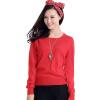 MAZOE простой многоцветный короткий параграф круглый шею воротник трикотажный нижний свитер M3028 красный XL