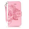 Розовый Череп Дизайн Кожа PU откидная крышка бумажника карты держатель чехол для IPHONE 7PLUS цветочный дизайн кожа pu откидная крышка бумажника карты держатель чехол для iphone 7g