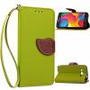 Зеленый дизайн Кожа PU откидная крышка бумажника карты держатель чехол для Samsung Galaxy G386 pudini wb note 3 protective pc back case for samsung galaxy note 3 white