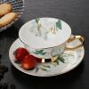 Jie Yajie костяного фарфора кофейная чашка с блюдцем кофейная чашка костюм два набора чашки кофе в американском стиле и блюдце (чашка блюдо) Camellia