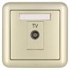 ABB розетка выключатель гнездо панели TV PC Dejing серии Gold AJ325-PG abb розетка с заземлением abb olas никель