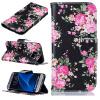 Черные цветы Дизайн PU кожаный чехол флип кошелек карты держатель чехол для SAMSUNG GALAXY S7 Edge printio чехол для samsung galaxy s7 кожаный