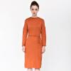все цены на UR привлекательные женщины просто вокруг шеи с тонким трикотажным платьем WG42R7BN0001 тонких оранжевым S онлайн