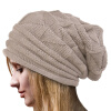 MyMei  Women's Winter Beanie Knit Crochet Ski Hat Oversized Cap Hat Warm led lighted cap winter warm beanie angling hunting camping running knitted hat
