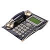 中诺(CHINO-E)C127 电话机欧式仿古复古家用有线固定座机 商务办公座式单机 黑桃木