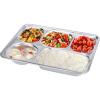 [Супермаркет] Джингдонг Бейг BAYCO нержавеющей стали закуска тарелка риса блюдо ланч-боксов, разделенных пять сетки квадратного BS4723 аксессуары для боксов