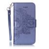 Синий Череп Дизайн Кожа PU откидная крышка бумажника карты держатель чехол для IPHONE 7PLUS цветочный дизайн кожа pu откидная крышка бумажника карты держатель чехол для iphone 7plus