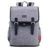 第九城(V.NINE) 双肩包男士防水电脑包大容量背包学生书包短途旅行包 VDMJ6BV941J 灰色