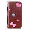 Коричневый цвет цветочного дизайна Кожа PU откидная крышка бумажника карты держатель чехол для HUAWEI Y6 смартфон huawei y6 pro золотой