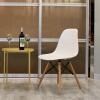 Подушка Повседневный Пластиковый стул Компьютер Офисный стул Дом Книжный шкаф Стул Кресла Стул Задний стол Деревянный стол Кресло Nordic Lounge Chair White
