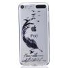 Черные перья Pattern Мягкий Тонкий TPU Резиновый Силиконовый гель Чехол для iPod Touch 5 белый шаблон pattern мягкий тонкий tpu резиновый силиконовый гель чехол для ipod touch 5