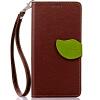 Коричневый Дизайн Кожа PU откидная крышка бумажника карты держатель чехол для Nokia Lumia 535