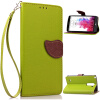Зеленый дизайн Кожа PU откидная крышка бумажника карты держатель чехол для LG G3 Stylus lg g3 s