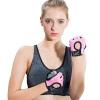 LAC перчатки для фитнеса женские противоскользящие полу пальцы спортивные перчатки мужчины носят оборудование для тренировки наполовину пальцы перчатки для рук розовые дышащие M код перчатки castlelady перчатки розовые