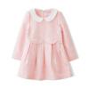 Fuluo чо Flordeer Франция Дети девочки кукла воротник жаккарда платье F6001 розовый 150 ai fuluo iflow