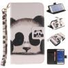 Panda Дизайн Кожа PU откидная крышка бумажника карты держатель чехол для SAMSUNG GALAXY CORE Prime G360 жираф дизайн кожа pu откидная крышка бумажника карты держатель чехол для samsung galaxy core prime g360