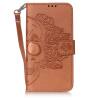 Коричневый Череп Дизайн Кожа PU откидная крышка бумажника карты держатель чехол для SAMSUNG S5 розовый белл дизайн кожа pu откидная крышка бумажника карты держатель чехол для samsung s5